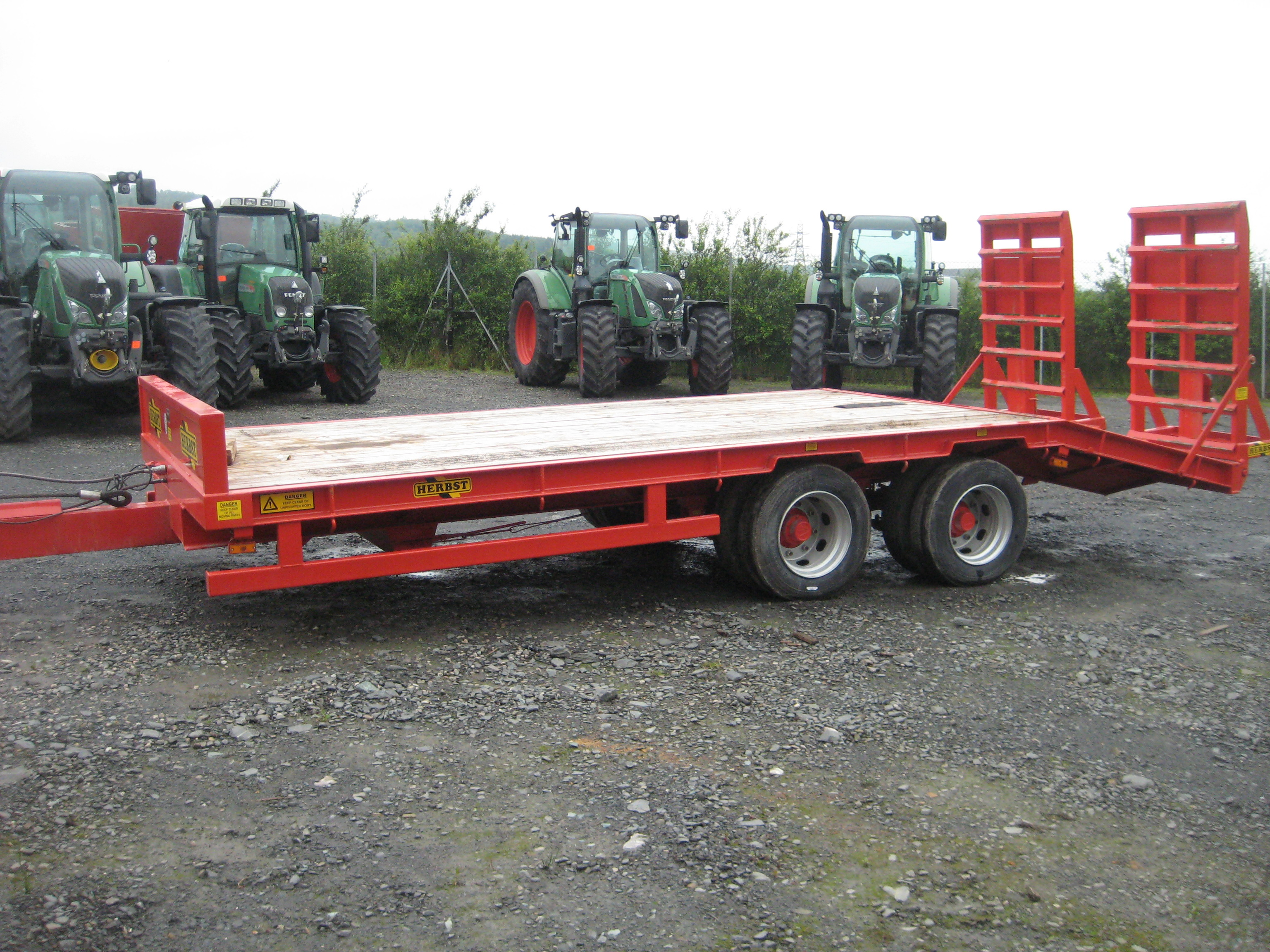 Used Tractor Trailers : Herbst low loader trailer pv dobson